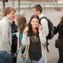 Nederland, amsterdam, 28-09-2009, UVA introductie week 9-2009, internationale BSc studenten en varen door de grachten op een rondvaartboot. foto; Ineke Oostveen
